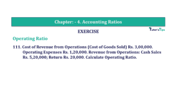 Question No. 111 Chapter No.4 T.S. Grewal 2 Book Part B min 360x202 - Chapter No. 4 - Accounting Ratios - Solution - Class 12
