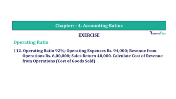 Question No. 112 Chapter No.4 T.S. Grewal 2 Book Part B min 360x202 - Chapter No. 4 - Accounting Ratios - Solution - Class 12