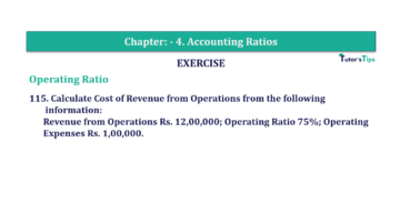 Question No. 115 Chapter No.4 T.S. Grewal 2 Book Part B min 360x202 - Chapter No. 4 - Accounting Ratios - Solution - Class 12