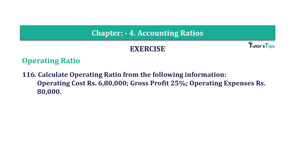 Question 116 Chapter 4 of +2-B