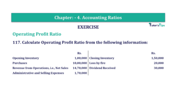 Question No. 117 Chapter No.4 T.S. Grewal 2 Book Part B min 1 360x202 - Chapter No. 4 - Accounting Ratios - Solution - Class 12