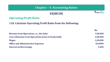 Question No. 118 Chapter No.4 T.S. Grewal 2 Book Part B min 1 360x202 - Chapter No. 4 - Accounting Ratios - Solution - Class 12