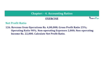 Question No. 126 Chapter No.4 T.S. Grewal 2 Book Part B min 360x202 - Chapter No. 4 - Accounting Ratios - Solution - Class 12