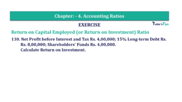 Question No. 130 Chapter No.4 T.S. Grewal 2 Book Part B min 360x202 - Chapter No. 4 - Accounting Ratios - Solution - Class 12