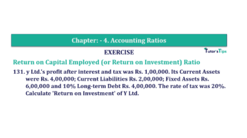 Question No. 131 Chapter No.4 T.S. Grewal 2 Book Part B min 360x202 - Chapter No. 4 - Accounting Ratios - Solution - Class 12