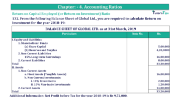 Question No. 132 Chapter No.4 T.S. Grewal 2 Book Part B min 360x202 - Chapter No. 4 - Accounting Ratios - Solution - Class 12