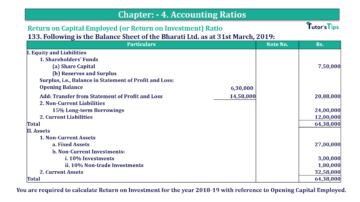 Question No. 133 Chapter No.4 T.S. Grewal 2 Book Part B min 360x202 - Chapter No. 4 - Accounting Ratios - Solution - Class 12