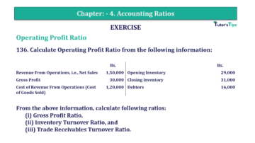 Question No. 136 Chapter No.4 T.S. Grewal 2 Book Part B min 360x202 - Chapter No. 4 - Accounting Ratios - Solution - Class 12