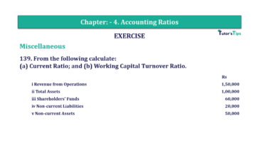 Question No. 139 Chapter No.4 T.S. Grewal 2 Book Part B min 360x202 - Chapter No. 4 - Accounting Ratios - Solution - Class 12