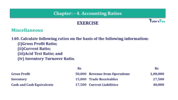 Question No. 140 Chapter No.4 T.S. Grewal 2 Book Part B min 360x202 - Chapter No. 4 - Accounting Ratios - Solution - Class 12