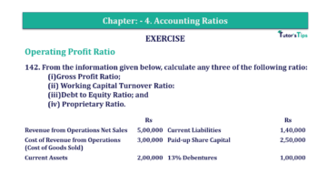 Question No. 142 Chapter No.4 T.S. Grewal 2 Book Part B min 360x202 - Chapter No. 4 - Accounting Ratios - Solution - Class 12