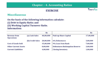 Question No. 143 Chapter No.4 T.S. Grewal 2 Book Part B min 360x202 - Chapter No. 4 - Accounting Ratios - Solution - Class 12