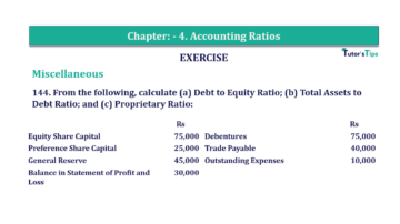 Question No. 144 Chapter No.4 T.S. Grewal 2 Book Part B min 360x202 - Chapter No. 4 - Accounting Ratios - Solution - Class 12