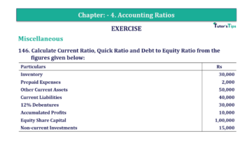 Question No. 146 Chapter No.4 T.S. Grewal 2 Book Part B min 360x202 - Chapter No. 4 - Accounting Ratios - Solution - Class 12