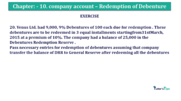 Question No. 20 Chapter No.10 T.S. Grewal 2 Book Part B min 360x202 - Chapter No. 10 - Redemption of Debentures - Solution - Class 12