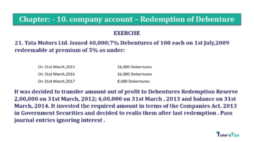 Question No. 21 Chapter No.10 T.S. Grewal 2 Book Part B min 360x202 - Chapter No. 10 - Redemption of Debentures - Solution - Class 12