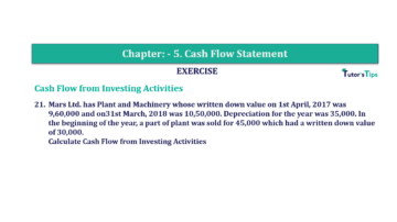 Question No. 21 Chapter No.5 T.S. Grewal 2 Book Part B min 360x202 - Chapter No. 5 - Cash Flow Statement - Solution - Class 12