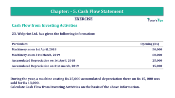 Question No. 23 Chapter No.5 T.S. Grewal 2 Book Part B min 360x202 - Chapter No. 5 - Cash Flow Statement - Solution - Class 12