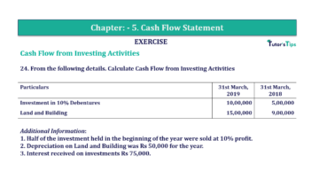 Question No. 24 Chapter No.5 T.S. Grewal 2 Book Part B min 360x202 - Chapter No. 5 - Cash Flow Statement - Solution - Class 12