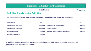 Question No. 25 Chapter No.5 T.S. Grewal 2 Book Part B min 360x202 - Chapter No. 5 - Cash Flow Statement - Solution - Class 12