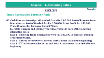 Question No. 89 Chapter No.4 T.S. Grewal 2 Book Part B min 360x202 - Chapter No. 4 - Accounting Ratios - Solution - Class 12