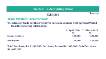 Question No. 93 Chapter No.4 T.S. Grewal 2 Book Part B min 360x202 - Chapter No. 4 - Accounting Ratios - Solution - Class 12