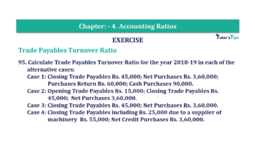 Question No. 95 Chapter No.4 T.S. Grewal 2 Book Part B min 360x202 - Chapter No. 4 - Accounting Ratios - Solution - Class 12