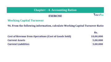 Question No. 96 Chapter No.4 T.S. Grewal 2 Book Part B min 360x202 - Chapter No. 4 - Accounting Ratios - Solution - Class 12
