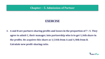Question No.03 Chapter No.5 T.S. Grewal 2 Book 2019 Solution min min 360x202 - Chapter No. 5 - Admission of a Partner - Solution - Class 12