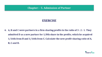 Question No.04 Chapter No.5 T.S. Grewal 2 Book 2019 Solution min min 360x202 - Chapter No. 5 - Admission of a Partner - Solution - Class 12