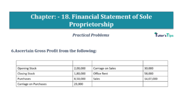 Question No.06 Chapter No.18 T.S. Grewal 1 Book 2019 Solution min min 360x202 - Chapter No. 18 - Financial Statements of Sole Proprietorship - Solution