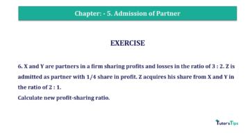 Question No.06 Chapter No.5 T.S. Grewal 2 Book 2019 Solution min min 360x202 - Chapter No. 5 - Admission of a Partner - Solution - Class 12