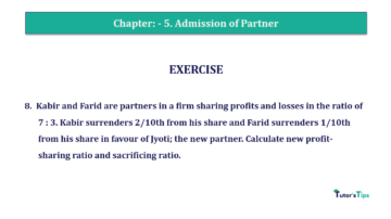 Question No.08 Chapter No.5 T.S. Grewal 2 Book 2019 Solution min min 360x202 - Chapter No. 5 - Admission of a Partner - Solution - Class 12