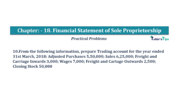 Question No.10 Chapter No.18 T.S. Grewal 1 Book 2019 Solution min min 360x202 - Chapter No. 18 - Financial Statements of Sole Proprietorship - Solution