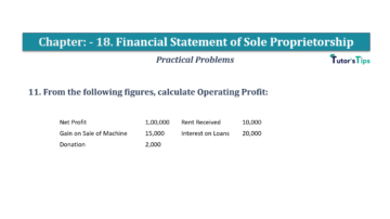 Question No.11 Chapter No.18 T.S. Grewal 1 Book 2019 Solution min min 360x202 - Chapter No. 18 - Financial Statements of Sole Proprietorship - Solution