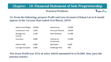 Question No.12 Chapter No.18 T.S. Grewal 1 Book 2019 Solution min min 360x202 - Chapter No. 18 - Financial Statements of Sole Proprietorship - Solution