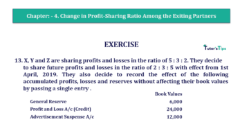 Question No.13 Chapter No.4 T.S. Grewal 2 Book 2019 Solution min min 360x202 - Chapter No. 4 – Change in Profit-Sharing Ratio Among the Existing Partners - Solution