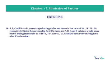 Question No.14 Chapter No.5 T.S. Grewal 2 Book 2019 Solution min min 360x202 - Chapter No. 5 - Admission of a Partner - Solution - Class 12