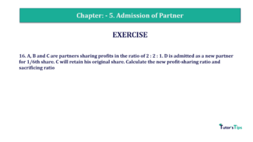 Question No.16 Chapter No.5 T.S. Grewal 2 Book 2019 Solution min min 360x202 - Chapter No. 5 - Admission of a Partner - Solution - Class 12