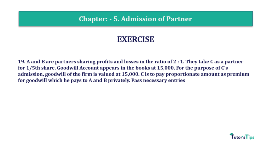 Question 19 Chapter 5of +2-A