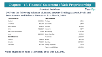 Question No.20 Chapter No.18 T.S. Grewal 1 Book 2019 Solution min min 360x202 - Chapter No. 18 - Financial Statements of Sole Proprietorship - Solution