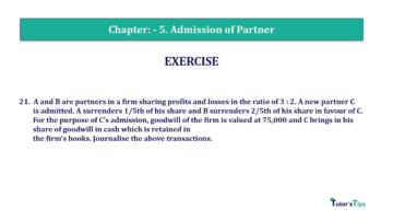 Question No.21 Chapter No.5 T.S. Grewal 2 Book 2019 Solution min min 360x202 - Chapter No. 5 - Admission of a Partner - Solution - Class 12