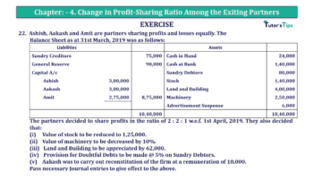Question No.22 Chapter No.4 T.S. Grewal 2 Book 2019 Solution min min 360x202 - Chapter No. 4 – Change in Profit-Sharing Ratio Among the Existing Partners - Solution