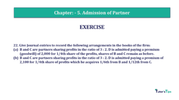 Question No.22 Chapter No.5 T.S. Grewal 2 Book 2019 Solution min min 360x202 - Chapter No. 5 - Admission of a Partner - Solution - Class 12