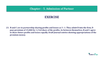 Question No.23 Chapter No.5 T.S. Grewal 2 Book 2019 Solution min min 360x202 - Chapter No. 5 - Admission of a Partner - Solution - Class 12