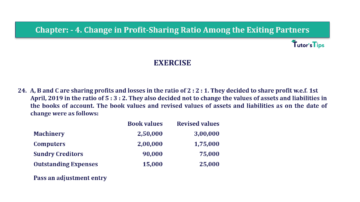 Question No.24 Chapter No.4 T.S. Grewal 2 Book 2019 Solution min min 360x202 - Chapter No. 4 – Change in Profit-Sharing Ratio Among the Existing Partners - Solution