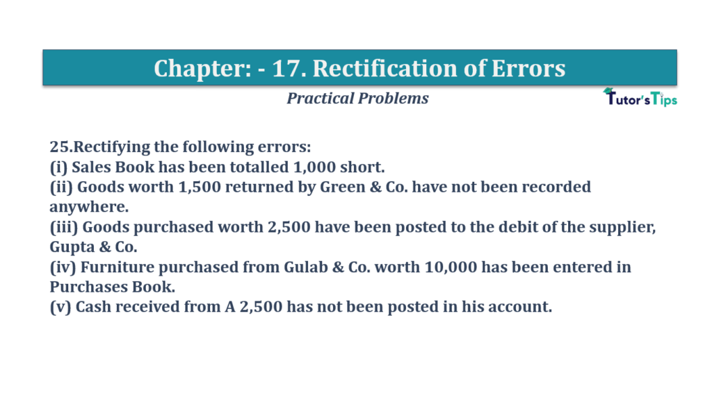 Question No 25 Chapter No 17