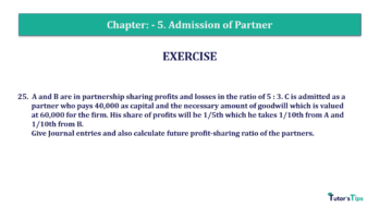 Question No.25 Chapter No.5 T.S. Grewal 2 Book 2019 Solution min min 360x202 - Chapter No. 5 - Admission of a Partner - Solution - Class 12