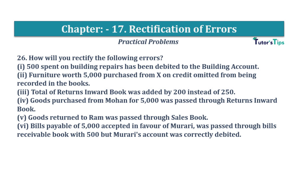 Question No 26 Chapter No 17