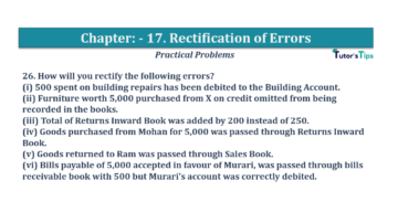 Question No.26 Chapter No.17 T.S. Grewal 1 Book 2019 Solution min min 360x202 - Chapter No. 17 - Rectification of Errors- Solution